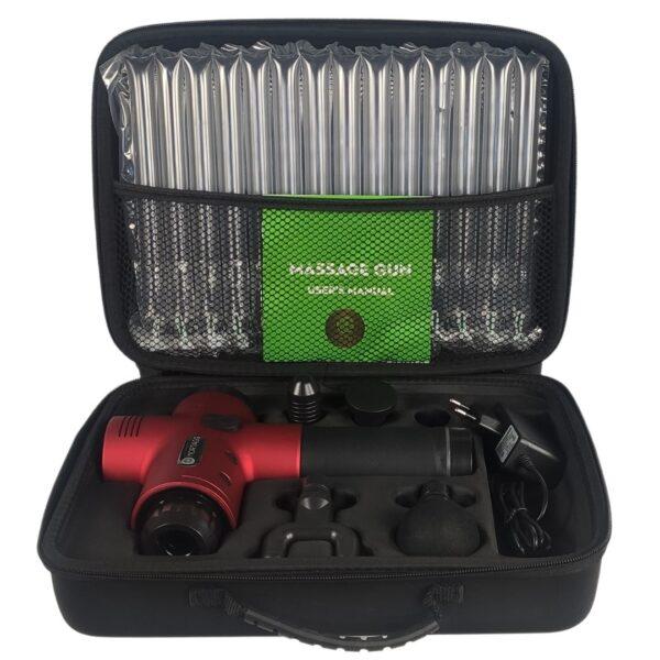 massagepistol-roed-rejsetaske