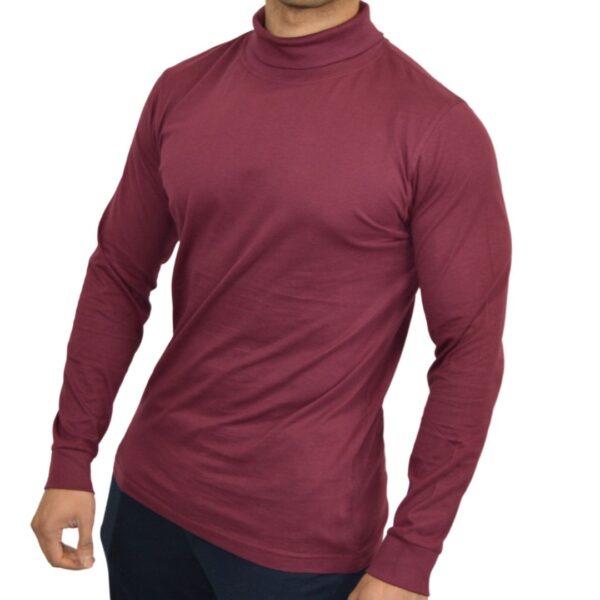 turtleneck-burgundy-t-shirt