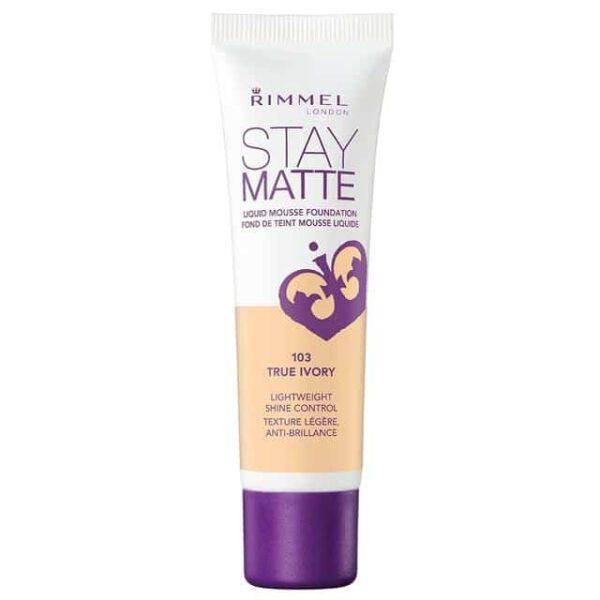 Rimmel-Stay-Matte-Liquid-Mousse-Foundation-103-True-Ivory