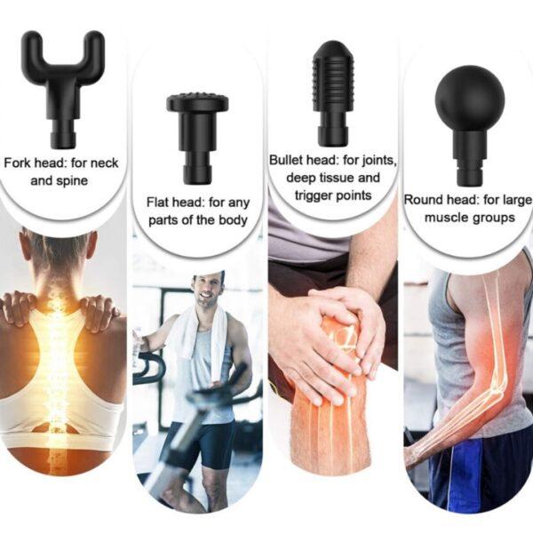 massagepistol-massagehoveder-muslcegun