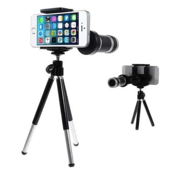 tripod-stand-med-zoom-kamera-linse