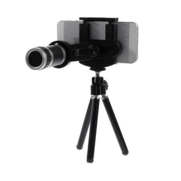 tripod-stand-med-zoom-kamera-linse-billde